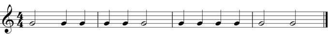 Rhythm with only one pitch