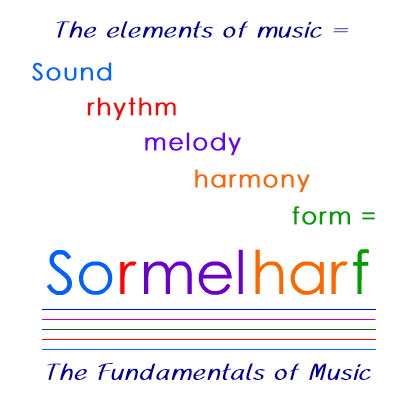 The fundamentals of music: sound, rhythm, melody, harmony, and form = sormelharf.